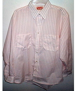 Mens NWOT Red Kap White Red Stripe Long Sleeve Shirt Size Large  - $12.95