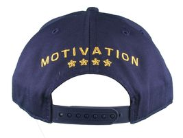 Motivation Voi Can'T Vinci Navale Blu Navy Snapback Cappellino Baseball Nwt image 4
