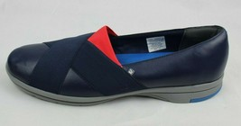 Rockport womens cross ballet flats casual leather upper shoes blue size 11 - $28.99