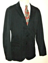 Polo Ralph Lauren Blazer Sport Coat 44R SLIM Navy Blue Jacket Cotton Cas... - $47.99