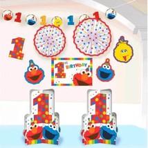 Elmo Turns One Room Decorating Kit 1st Birthday Party Sesame Street 10 Pc - $19.10 CAD