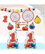 Elmo Turns One Room Decorating Kit 1st Birthday Party Sesame Street 10 Pc - $19.53 CAD