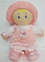"KIDS PREFERRED First Doll Pink Plush Lovey Rattle Crinkle Blonde Baby 12"" - $16.65"