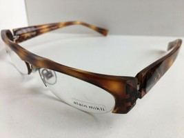 New ALAIN MIKLI AL 0927 AL0927 0002  53mm Havana Semi-Rimless Eyeglasses Frame - $314.99