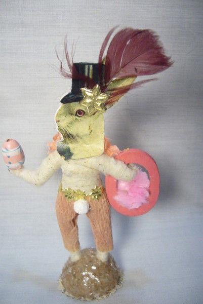 Vintage Inspired Spun Cotton Bunny Faced Boy no. 168