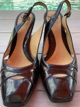 SOFFT Sling Back Patent leather Pumps Size 9N Black - $34.00