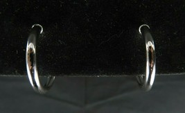 Signed NAPIER Silver Toned Medium Hoop Clip on Earrings 1 inch in Diameter - $19.99