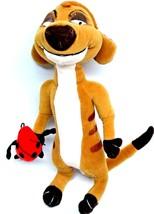 """Lion King Timon Stuffed Toy Ladybug Plush Attached Toy 11"""" Disney Collec... - $14.33"""