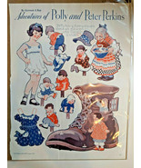 Paper Dolls Adventures of Polly Peter Perkins OLD WOMAN IN  A SHOE Gertr... - $19.75
