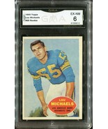 1960 Topps Football #69 Lou Michaels - Rookie - Los Angeles Rams (GMA EX... - $19.79