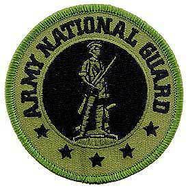 Primary image for ARMY NATIONAL GUARD EMBROIDERED OD PATCH