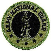 ARMY NATIONAL GUARD EMBROIDERED OD PATCH - $23.74