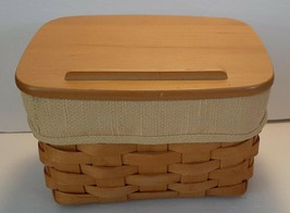 LONGABERGER Large Recipe Basket Protector Liner and Lid Classic Stain 2000 - $49.45