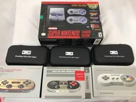 Super Nintendo Unterhaltungssystem Klassisch Plus 3 Extra Controller, Neu - $158.81