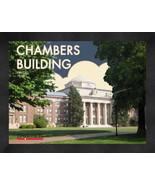 "Davidson College ""Chambers Building"" 13x16 Art Deco Framed Print  - $39.95"