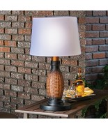 """26"""" Faux Wicker Table Lamp + Shade Battery LED 3-Way All Weather Outdoor... - $88.11"""
