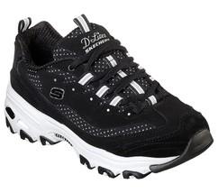 D'Lites Skechers Scarpe Nere Donna Sport Memory Sneaker Stile Casual con... - $49.63