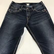 Silver Jeans Suki Surplus Bootcut Thick Stitch Flap Pocket Jeans Women S... - $52.20