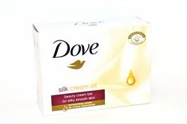 Dove Silk Cream Oil Bar Soap, 100g - $2.50