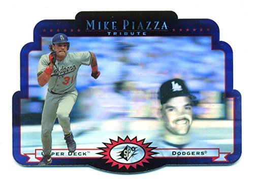 1996 SPx Mike Piazza Tribute #MP1 Hologram Los Angeles Dodgers - Baseball Card