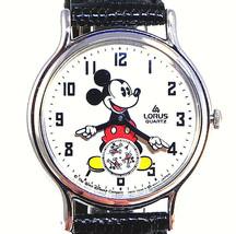 Mickey Mouse Seiko Lorus Rotating Disc Sec Hand Mans Disney New Never Wo... - $113.70