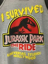 Universal Studios Jurassic Park the Ride Tank Top Sleeveless XL Vintage 1996  image 7