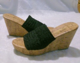 Club 5 Montego 6 Slip Black On Size Shoes Woven Bay Wedge 1fxvf6