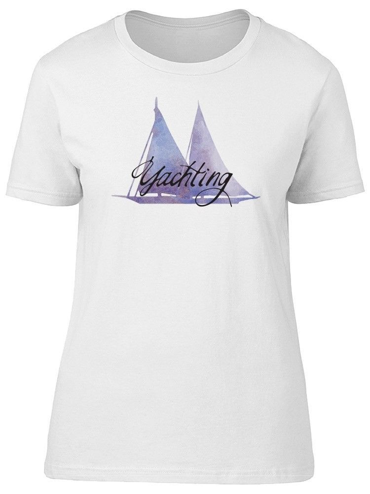 Primary image for Yachting Lover Purple Watercolor Women's Tee -Image by Shutterstock