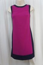 Ralph Lauren Petite Dress Sz 2P Rose Blue Sleeveless Sheath Business Dinner - $69.26