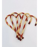 Vintage Christmas Hong Kong Plastic Candy Cane Tree Wreath Package Ornam... - $9.89
