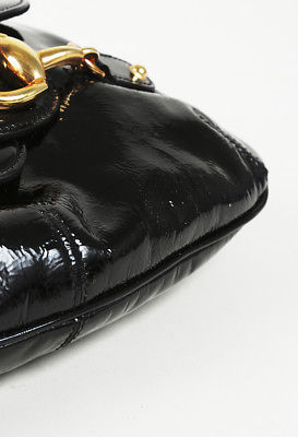 Gucci Patent Leather Hersebit Shoulder Bag
