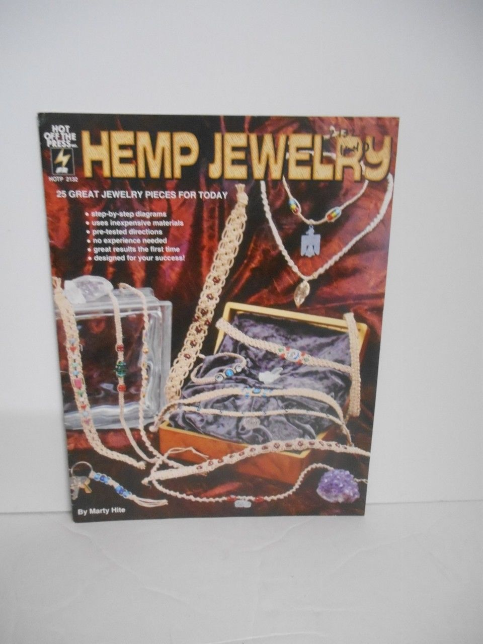 "Vintage 1997~""Hemp Jewelry"" #2132 Instruction Booklet for (25) pieces"