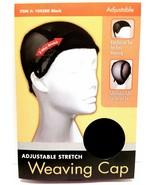 TIFFANY ADJUSTABLE STRETCH WEAVING CAP WIG CAP BLACK #1045BK THE CHALLENGER - $2.96
