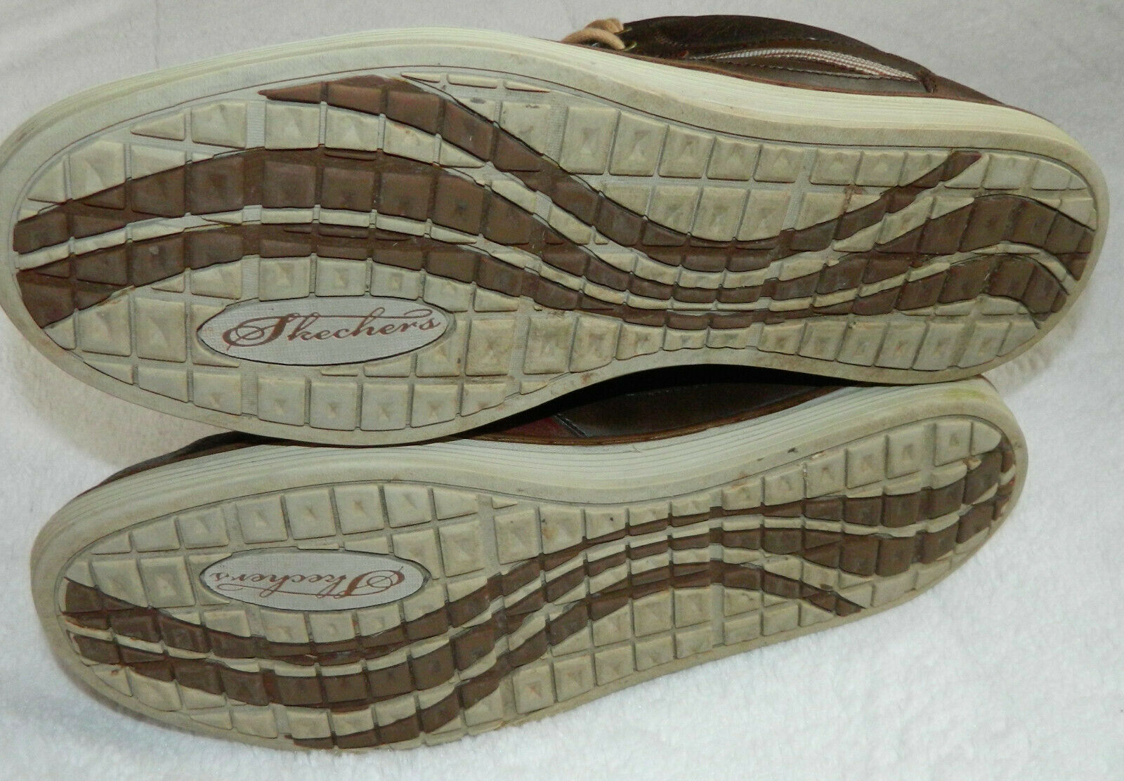 Skechers Sz 13 Sneakers Shoes Leather Brown Sorino Lozano Hi-Tops Relaxed Fit  Q