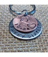 Girls sweet sixteen, initial key chain, 16th birthday, coin jewelry, penny charm - $19.00