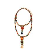 Stunning Boho Style Playa Collection Beaded Hi-Low Necklace by Treska - $45.90