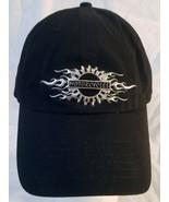 Harley Davidson Black Trucker Cap 3D Flames Emblem Logo Hook and Loop Strap - $17.82