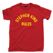 Stephen King Rules T Shirt, Monster Squad Horror Movies Men's Cotton Tee Shirt - $13.99+
