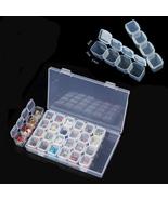 Portable Plastic 28 Slots Nail Art Tools Jewelry Storage Box Case Organizer - $11.54