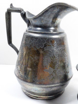 ANTIQUE VTG SILVER PLATED CREAMER PITCHER MERIDEN BRITANNIA 1800'S FERN - $46.73