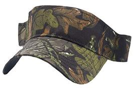 Buy Caps and Hats Camo Visor Moss Oak Leaf Hunting Camouflage Golf Hat for Men W - £6.23 GBP