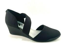 Anne Klein Sport Tara Black Round-toe Slip-on D'Orsay Wedge Pumps - $69.00