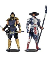 New Arrival Mortal Fight Scorpion and Raiden Set Movable Dolls Action Fi... - $148.49
