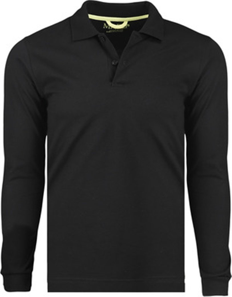 Primary image for Marquis Men's Black Long Sleeve Polo Jersey - 2XL