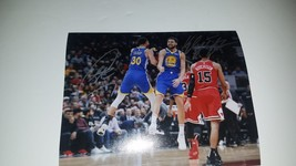 Klay Thompson and Steph Curry 8 x 10 photo signed with proof - $249.00