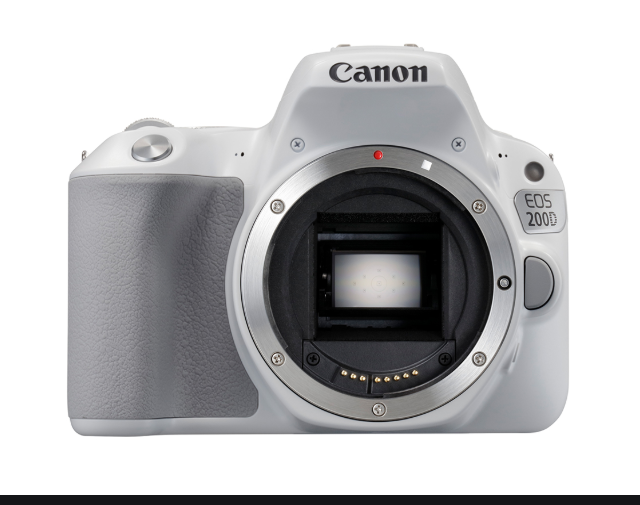 Canon EOS 200D Rebel SL2 24.2 MP DSLR Camera White Body only Express shipping