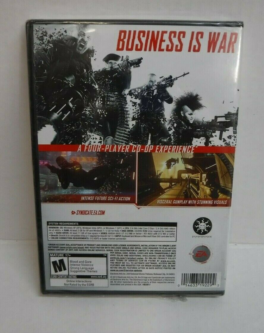 EA Syndicate PC DVD Video Game