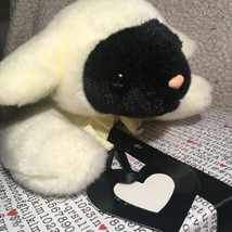 "Ty Buddies Chops Lamb Black Face White Sheep Yellow Bow Plush 13"" Toy Lo... - $16.99"