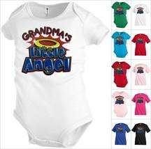Grandmas little Angel Funny Kids T shirt Youth tee Baby Toddler bodysuit... - $12.99