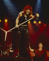 Jon Bon Jovi Iconic 1980'S On Stage In Concert Holding Mike Stand 16x20 ... - $69.99